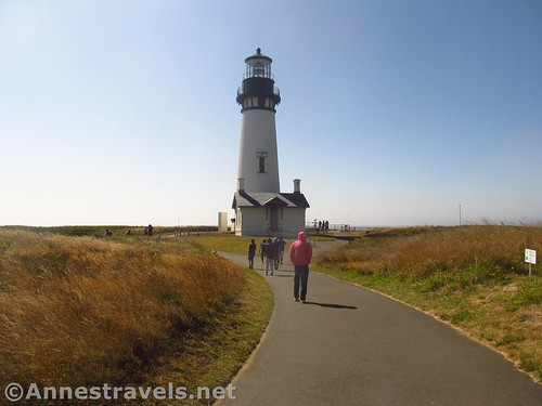 Approaching the Yaquina Head Lighthouse near Newport, Oregon
