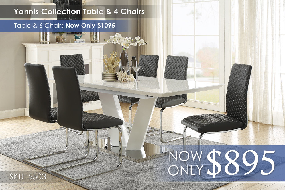 Yannis Collection Table and 4 Chairs 5503