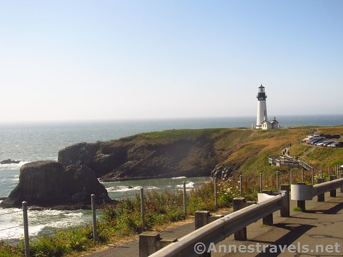 In a pulloff before the parking area at the end of the road, Yaquina Head Outstanding Natural Area, Oregon