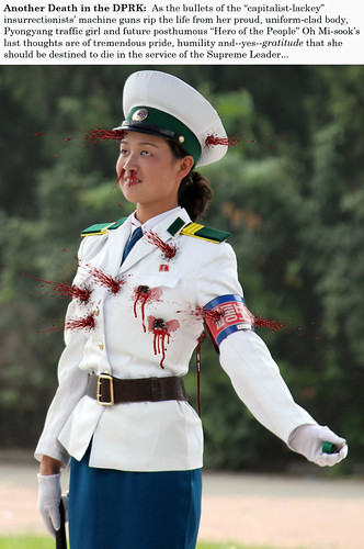PHOTOSHOP: Pyongyang Traffic Girls shot dead during armed uprising in North Korea ( photos ) 35373137605_e8633e3286
