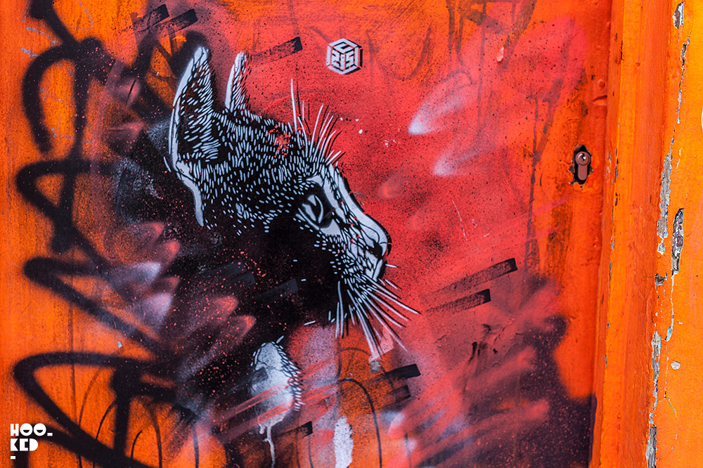 French Street Artist C215 Installs New London Stencil Work