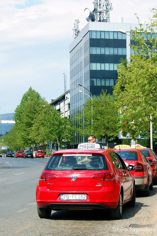Такси в центре Подгорицы