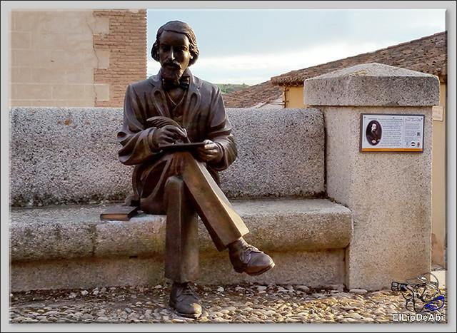 Inauguración de la estatua de José Zorrilla en Lerma