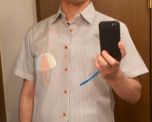傘の絵のワイシャツ 2017.5