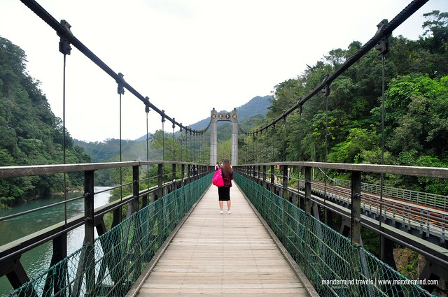 Suspension Bridge going to Shifen Waterfall