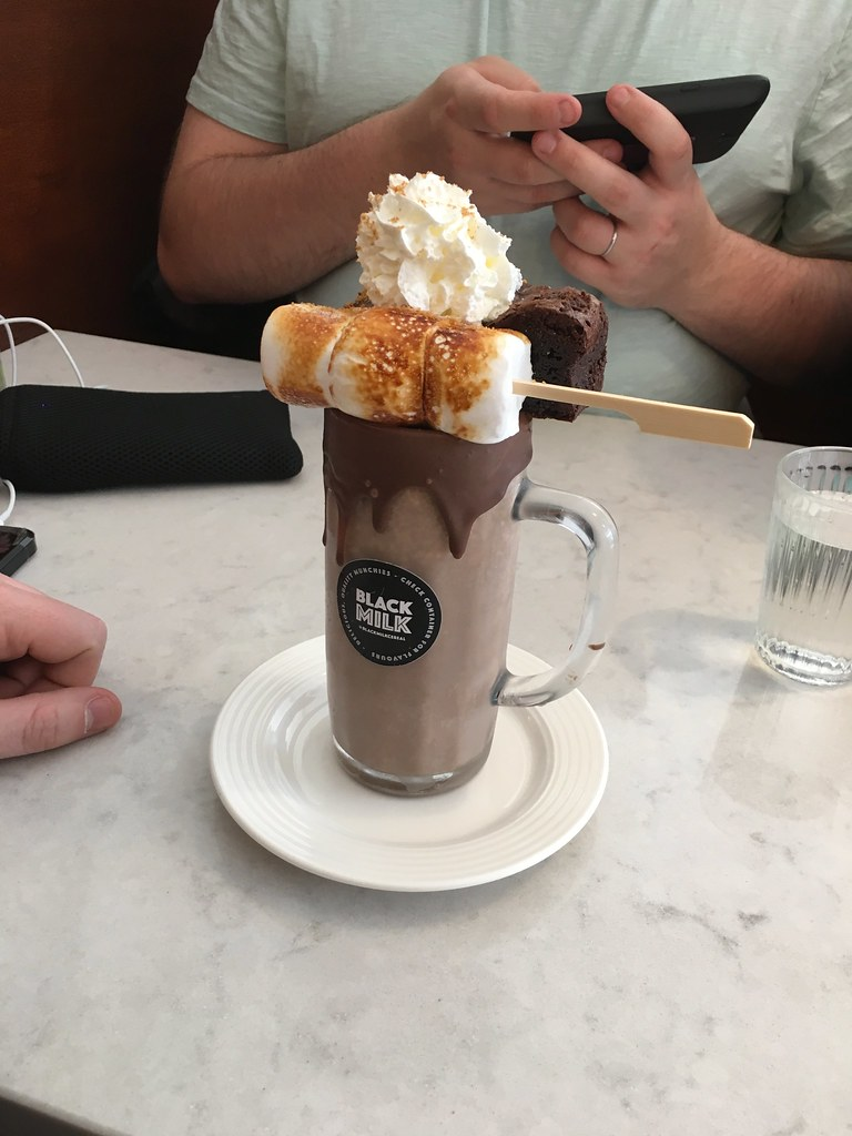 Black Milk rocky road freakshake