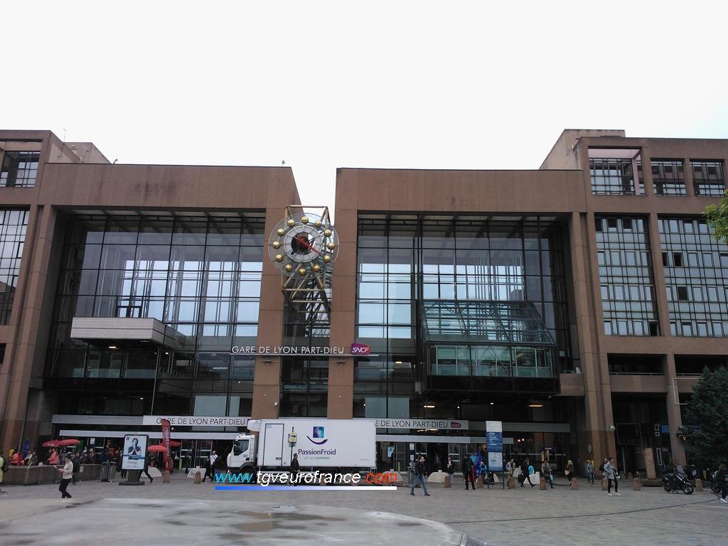 La gare de Lyon Part-Dieu (69003) dans le département du Rhône