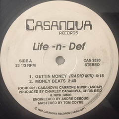 LIFE-N-DEF:GETTIN MONEY(LABEL SIDE-A)