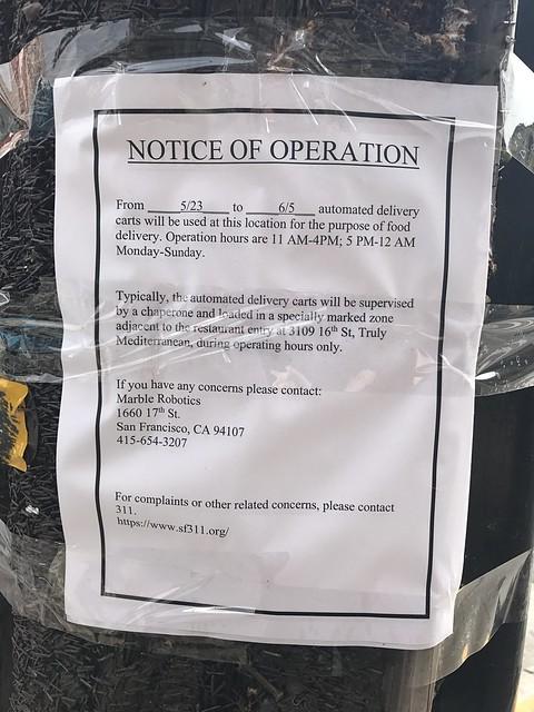 Public notice: Robots
