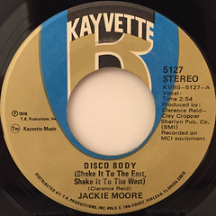 JACKIE MOORE:DISCO BODY(SHAKE IT TO THE EAST, SHAKE IT TO THE WEST)(LABEL SIDE-A)