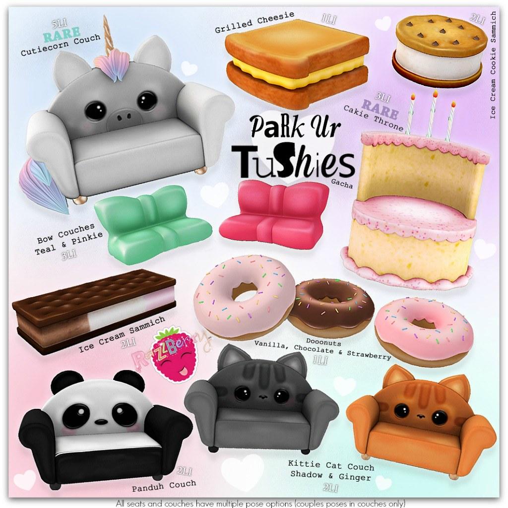 RazzBerry Inc. Park Ur Tushies Gacha ♥