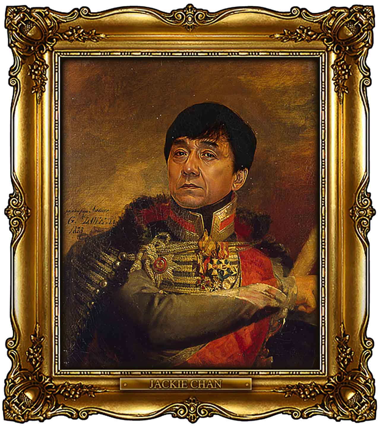 Artist Turns Famous Actors Into Russian Generals - Jackie Chan
