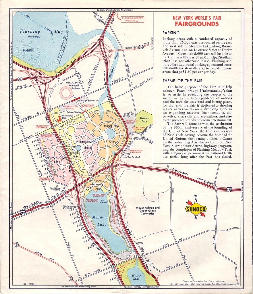 1964 / 1965 World\'s Fair Map | This vintage 1964 Sunoco map … | Flickr