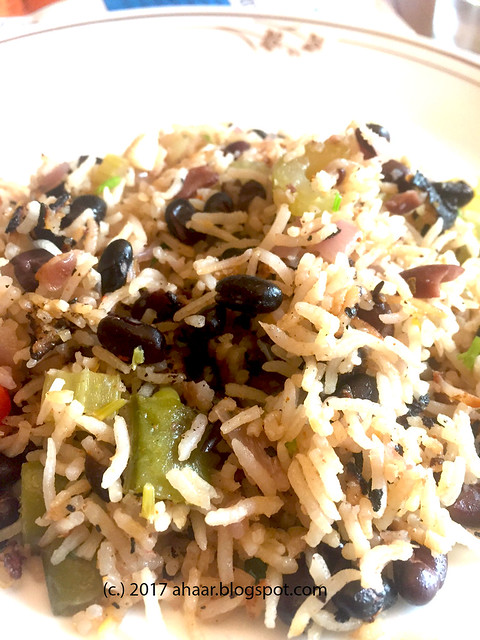 Blackbeans & vegetables rice