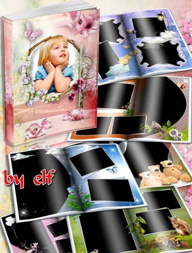 Children photobook for Adobe Photoshop – it is no better in the world