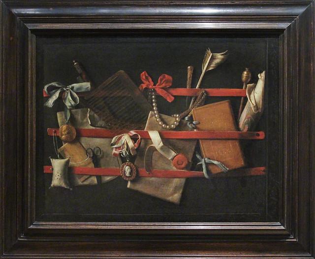 Trompe l'oeil stilleven, Samuel van Hoogstraten, 1664