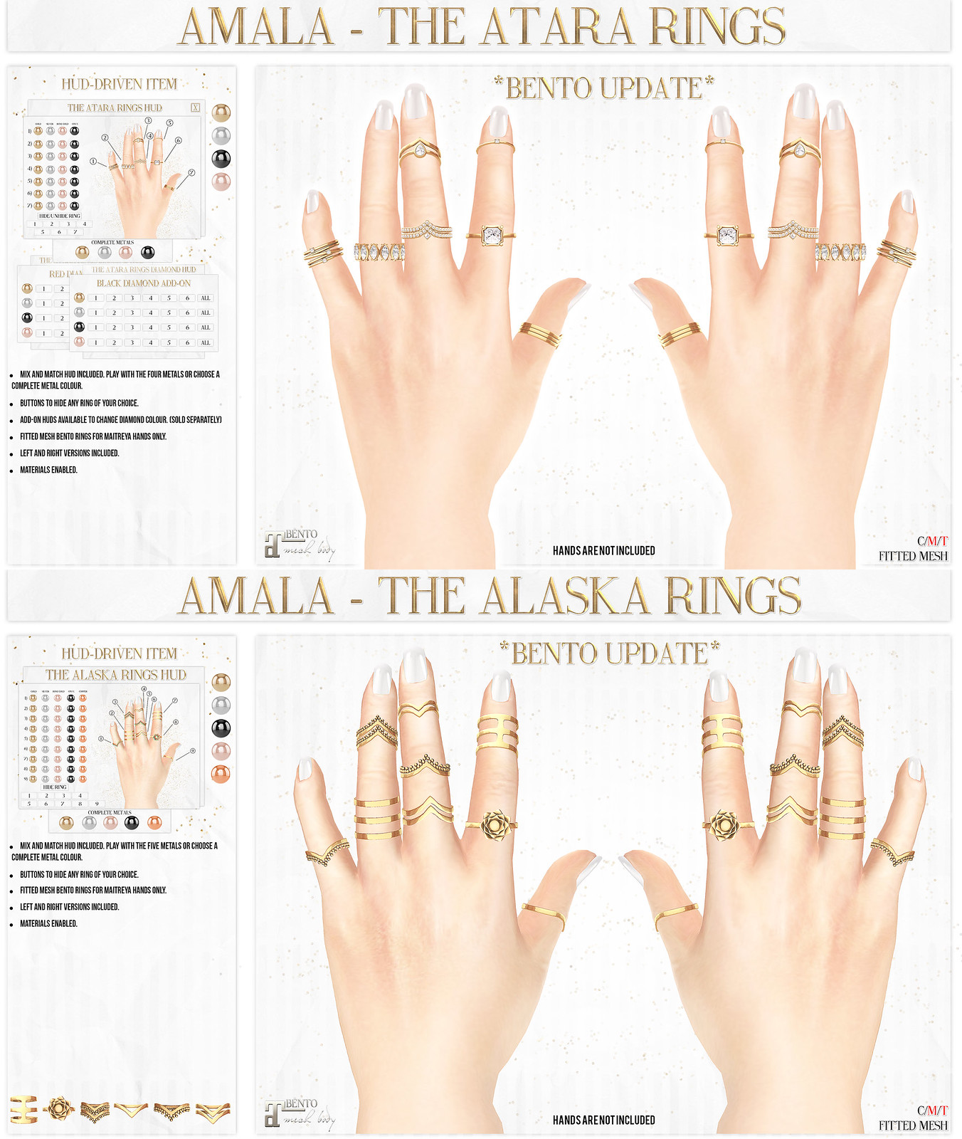 Amala - BENTO RINGS UPDATE - Atara and Alaska