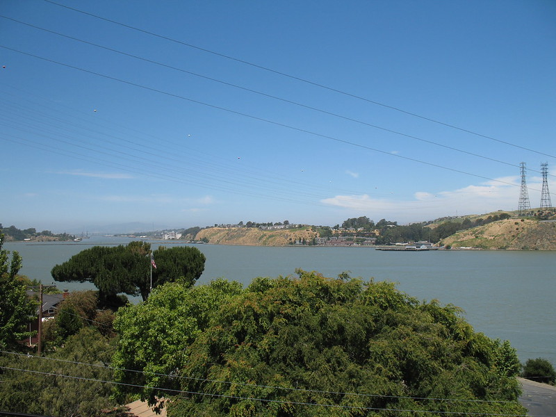 View towards the Napa River and Mare Island