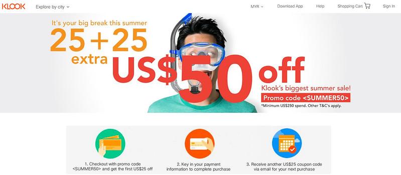 klook summer sale