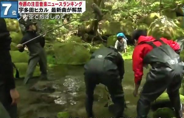 宇多田ヒカル「サントリー天然水」CMメイキング風景