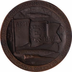 Curtis Wright E medal obverse