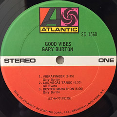 GARY BURTON:GOOD VIBES(LABEL SIDE-A)