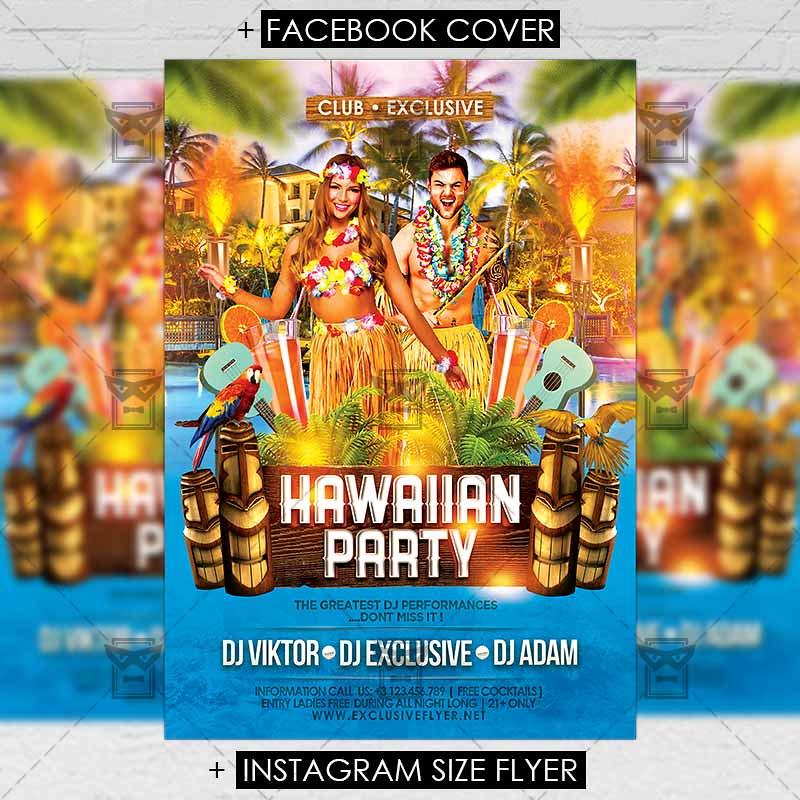 hawaiian party premium a5 flyer template the hawaiian pa flickr