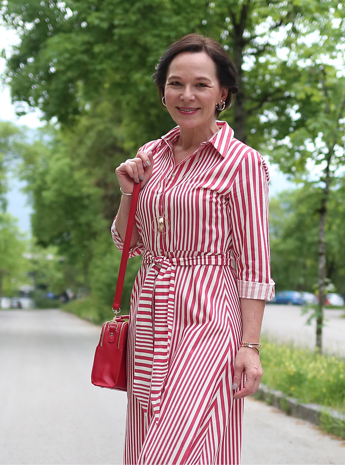 Zara Red Stripes Midi Dress LadyofStyle