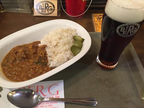 BERG 五穀米と十種野菜のカレーとハーフ&ハーフ