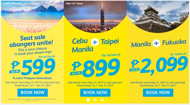 Cebu Pacific Air Promo Dream Trip Php599