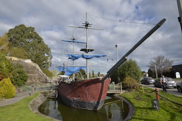 Abandoned Pirate Ship, Christchurch, New Zealand.