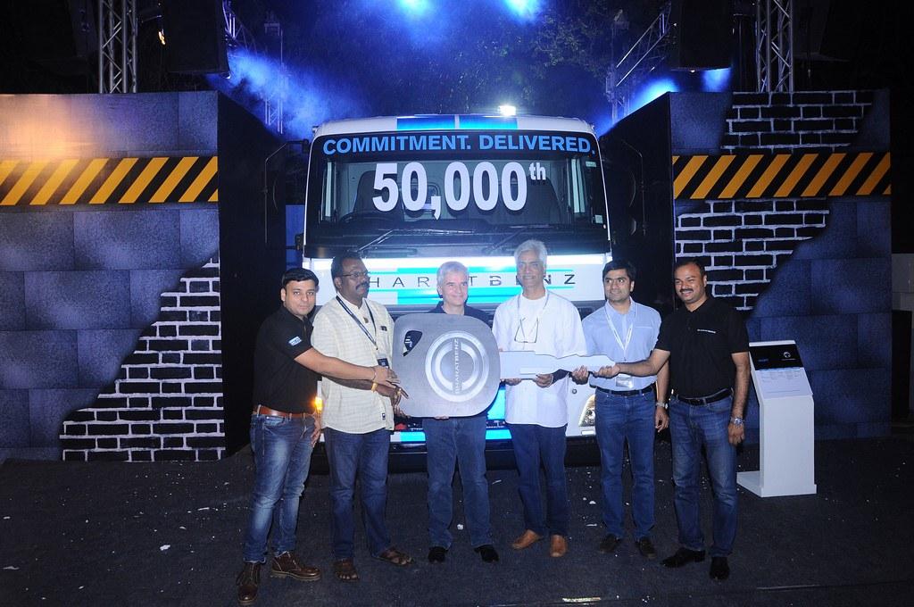 Bharat-Benz-50000-Truck-Sales-Milestone