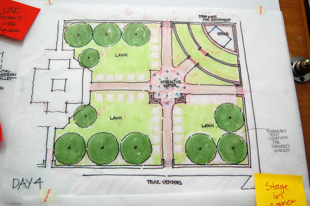 Stantec staffers came up with a lot of great ideas to rejuvenate the Historic Courthouse Lawn.