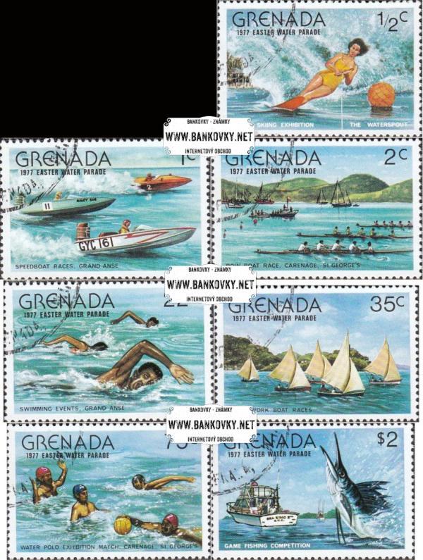 Známky Grenada 1977 Vodné športy, razítkovaná séria