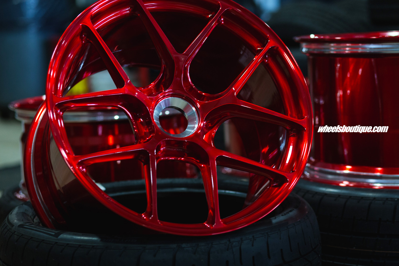 Candy Apple Red HRE R101 Lightweights + 335 Pirelli Corsa ...