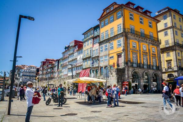 Cais da Ribeira waterfront Porto