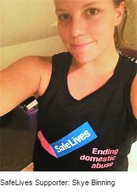 SafeLives supporter: Skye Binning