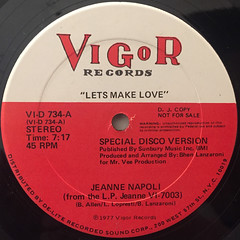 JEANNE NAPOLI:LET'S MAKE LOVE(LABEL SIDE-A)