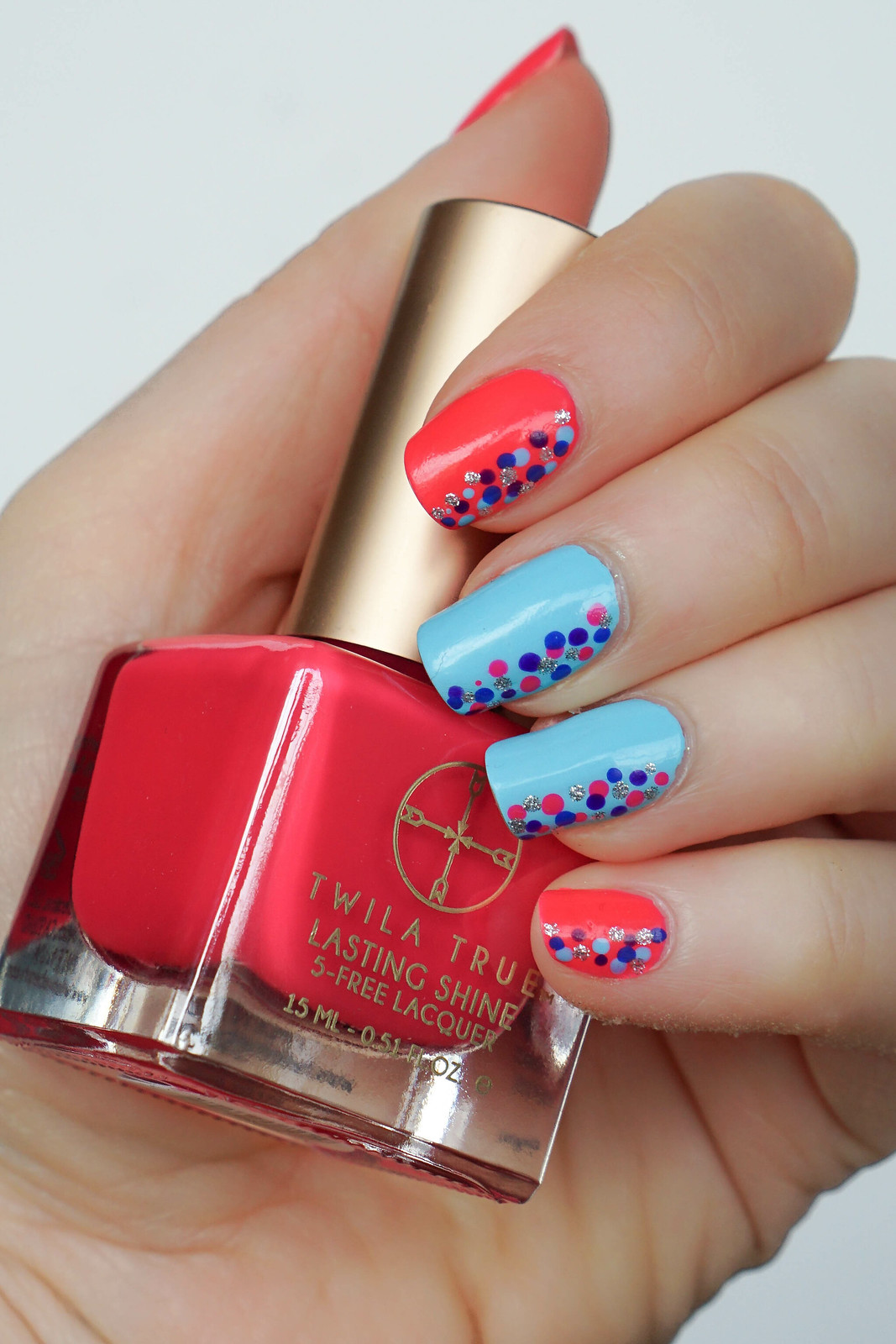 Colorful Confetti Nail Art Twila True Beauty Nail Lacquer