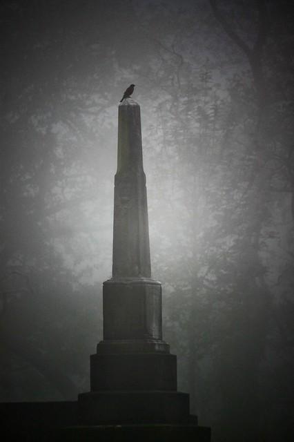 Obelisk in fog
