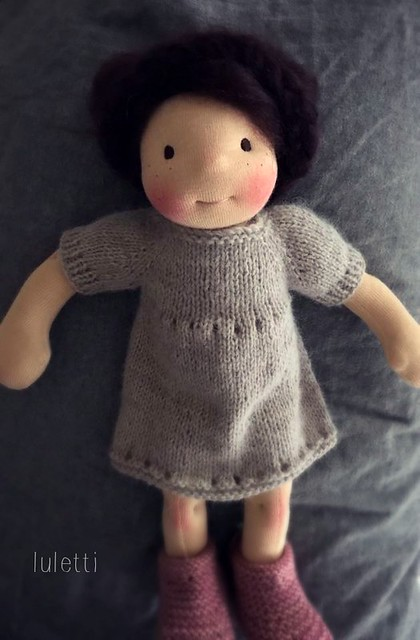 "Paloma ~ a 14"" Natural fiber doll by Luletti"