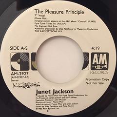 JANET JACKSON:THE PLEASURE PRINCIPLE(LABEL SIDE-A)