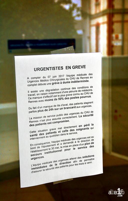 [07 Juin 2017] – Un jour, une photo… Après les pompiers, les urgentistes en grève illimitée !