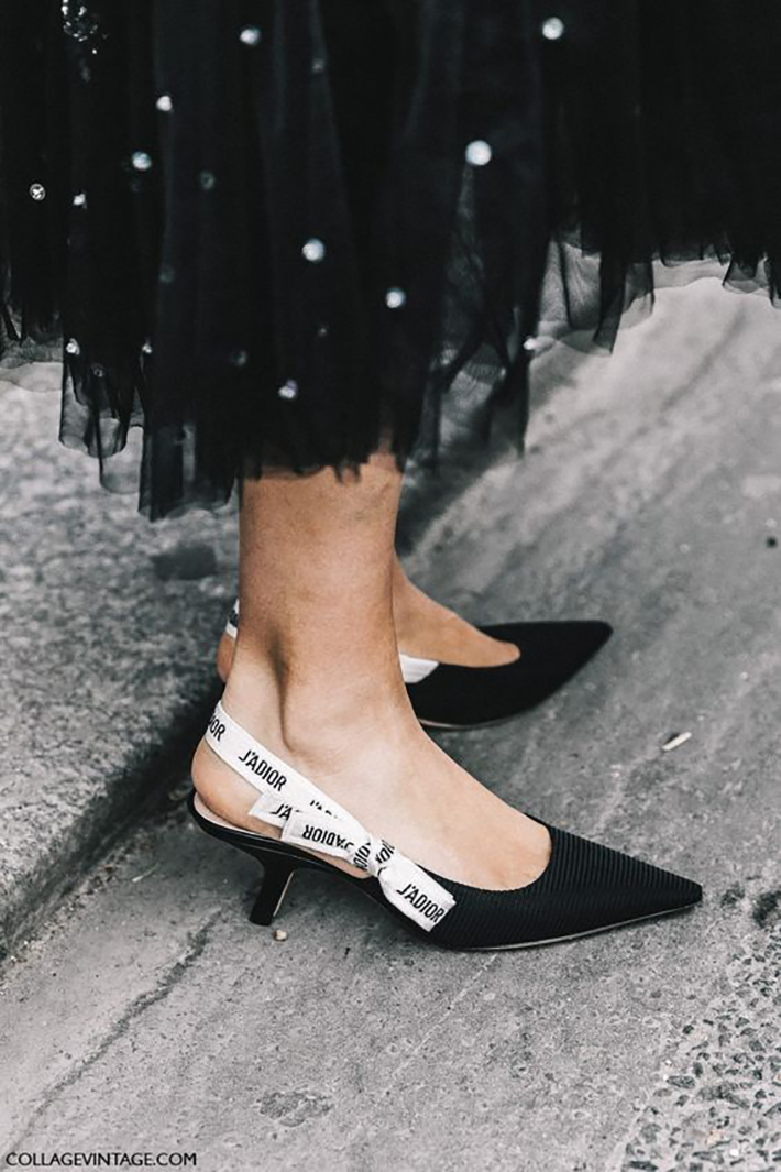 how to wear kitten heels summer 2017 street style outfits fashion trend1