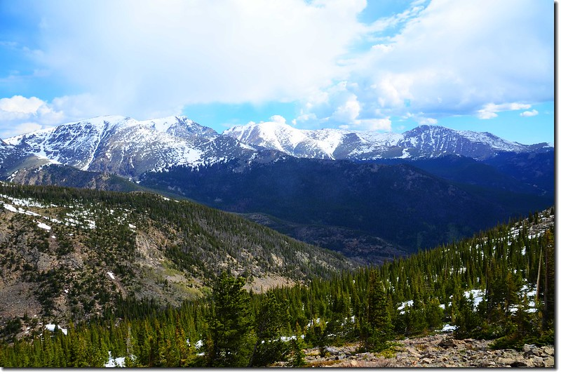 Viewing Mummy Range from Trail Ridge Road