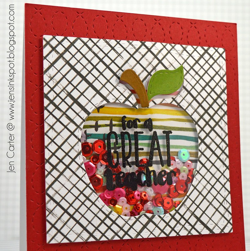Jen Carter Apple Eye Shaker Teacher 1 closeup