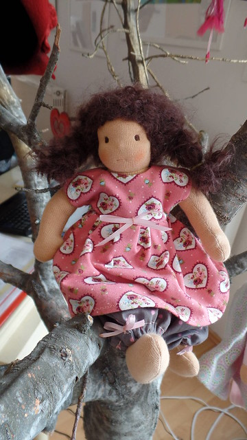 20cm waldorf doll new dress 1