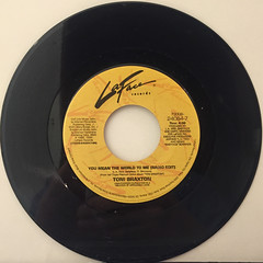 TONI BRAXTON:YOU MEAN THE WORLD TO ME(RECORD SIDE-A)