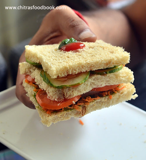 Easy Veg Sandwich Recipe Indian