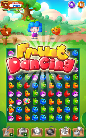 FREE] Fruit Cartoon - Fresh new match 3 game  Enjoy fun